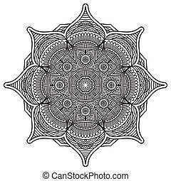 Mandala - Vector Mandala. Round ornament in ethnic style....