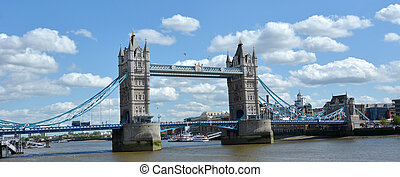 Tower Bridge in London - England UK - Panoramic view of The...