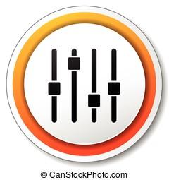 adjustment orange icon - illustration of orange and white...