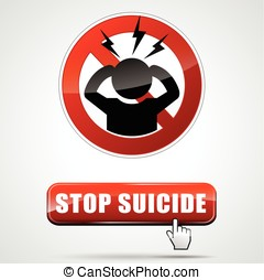 stop suicide sign - illustration of stop suicide sign with...