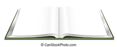open book - drawing of open book  in a white background