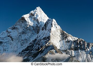 beautiful view of mount Ama Dablam - way to Everest base...