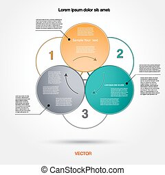 Diagram infographic for business project, workflow and other Your variant. Vector illustration template with text areas 1