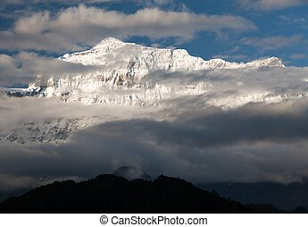 Evening view of Gurja Himal - Dhaulagiri Himal - Nepal