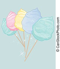 cotton candy vintage - a vector illustration in eps 10...
