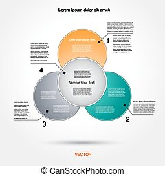 Diagram infographic for business project, workflow and other Your variant. Vector illustration template with text areas 2