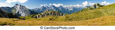 Panoramic view of Alpi Dolomiti - View from Karnische Alpen...