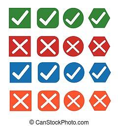 Check box icon set