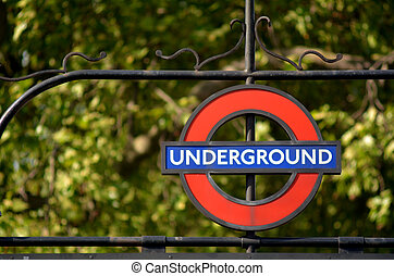 London Underground sign - LONDON, UK - MAY 14 2015:London...