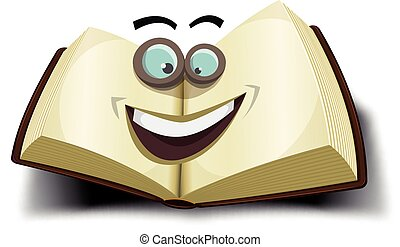 Big Book Character Icon - Illustration of a cartoon opened...