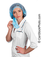 doctor wearing surgical mask - Preparing to surgery,...