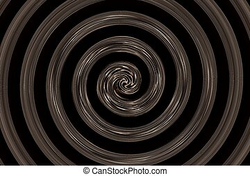 abstract spiral black and brown - abstract spiral of black...