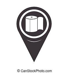 Map Pointer Toilet Paper Icon