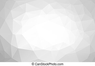 Light low-polypolygonal background - Light grey...