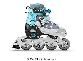 Roller skate on a white - Roller skate isolated on white...