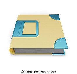 Photo album isolated on white background. 3d illustration.