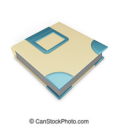 Photo album isolated on white background 3d illustration