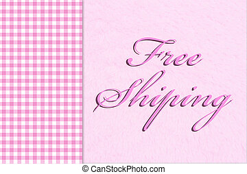 Free Shipping, Pink gingham on the side with a plush pink...