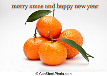 Xmas card with oranges - Picture of a unusula Xmas card with...