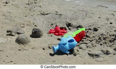 Toys on beach