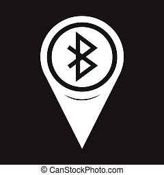 Map Pointer Bluetooth Icon
