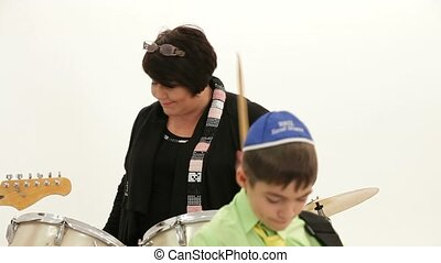 Woman On Drums - Jewish grandmother plays the drums...