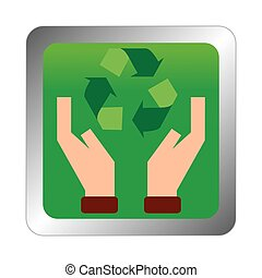 Sustainability - abstract sustainability symbol on a white...