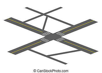 crossroad - drawing of crossroad in a white background
