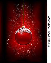 christmas bauble background - Decorative Christmas bauble...