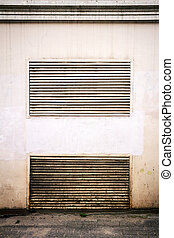 Ventilation on wall - Old steel ventilation grille on the...