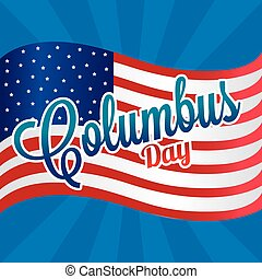 Columbus Day - abstract columbus day background with some...