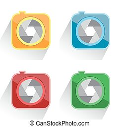 set camera icon red, yellow, green, blue