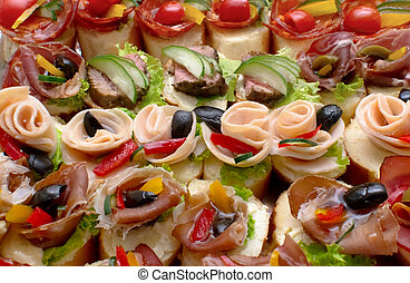canape for a self service buffet