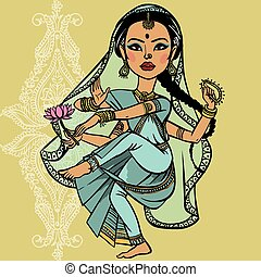 Indian woman. vector illustration