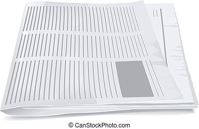 Folded newspaper tabloid. Isolated illustration in vector...