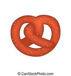Pretzel - abstract cute pretzel on a white background