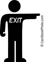 Exit cartoon - Creative design of Exit cartoon