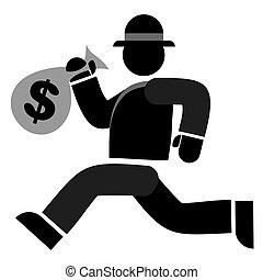 Thief man - Creative design of Thief man