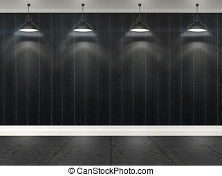3d stripes wallpaper with ceiling lamps - 3d stripes...