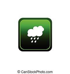 button of rain green vector