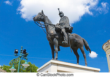 Hussar statue - Memorial of the 3rd Hussar Regiment in the...