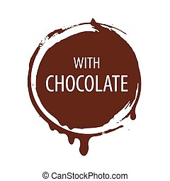 vector logo round seal for chocolate