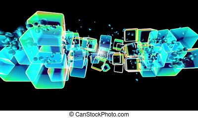 dancing musical color cube graphics