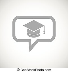 Graduation grey message icon
