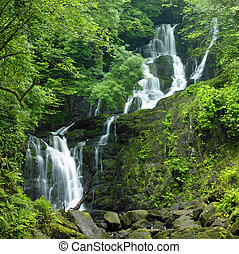 Torc Waterfall, Killarney National Park, County Kerry,...