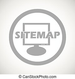 Grey sitemap sign icon - Grey text SITEMAP in front of...