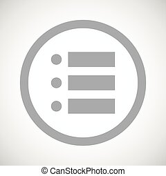Grey dotted list sign icon - Grey image of dotted list in...