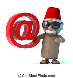 3D, marocain, a, une, email, adresse,