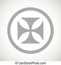 Grey maltese cross sign icon - Grey image of maltese cross...