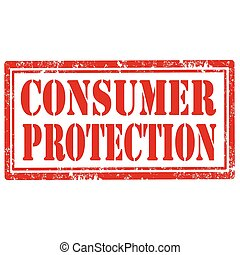Consumer Protection - Grunge rubber stamp